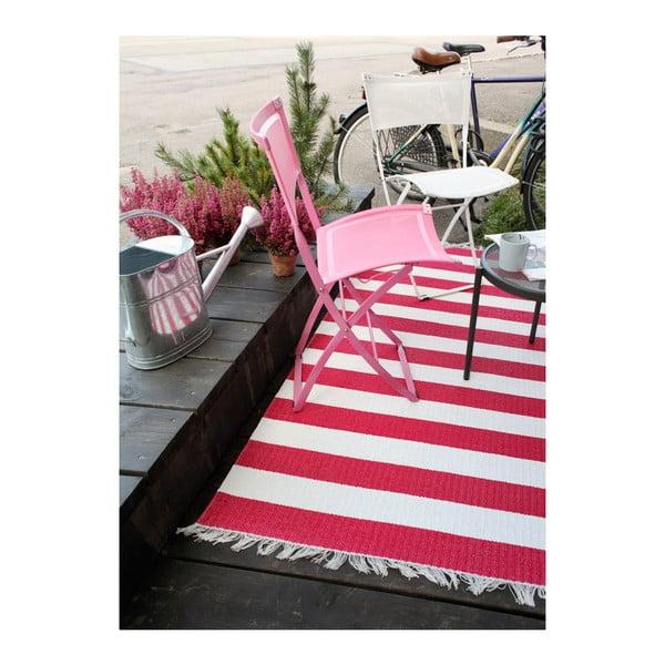 Růžovo-bílý koberec vhodný do exteriéru Narma Birkas, 70x100cm