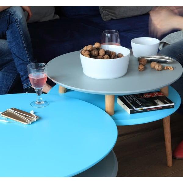 Růžový konferenční stolek Ragaba UFO,Ø70cm