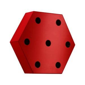 Stojan na víno Hexagon, červený