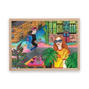 Puzzle z recyklovaných materiálů v bukovém rámu Pucle Girl Power, 500dílků
