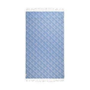 Modrá hammam osuška Begonville Hype, 180x95cm