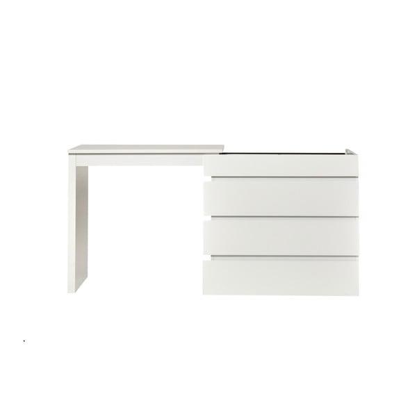 Bílý variabilní pracovní stůl/komoda Marckeric Elbir