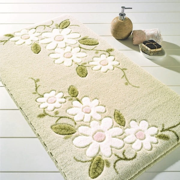 Beżowy dywanik łazienkowy Confetti Bathmats Margherita, 80x140cm