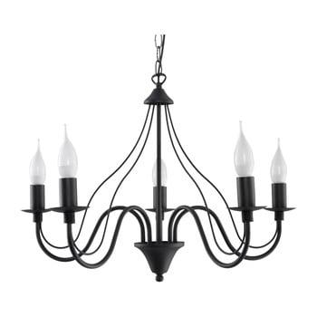 Lustră Nice Lamps Floriano 5, negru de la Nice Lamps