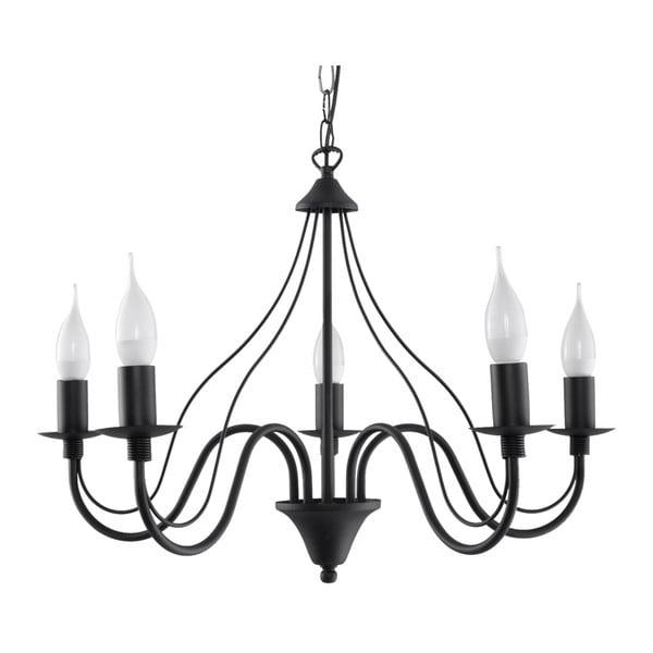Černé závěsné svítidlo Nice Lamps Floriano 5