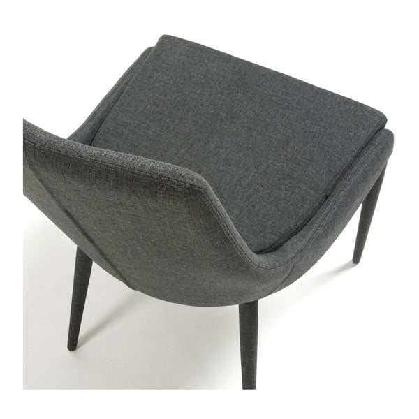 Sada 2 tmavě šedých židlí La Forma Dant