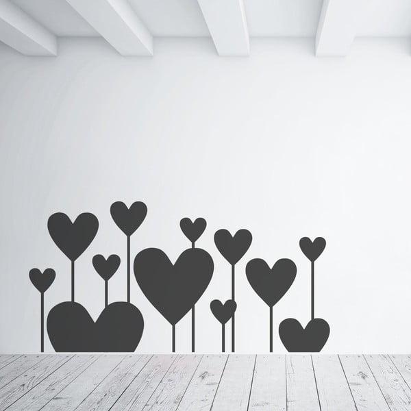 Samolepka na stěnu Hearts Like flowers