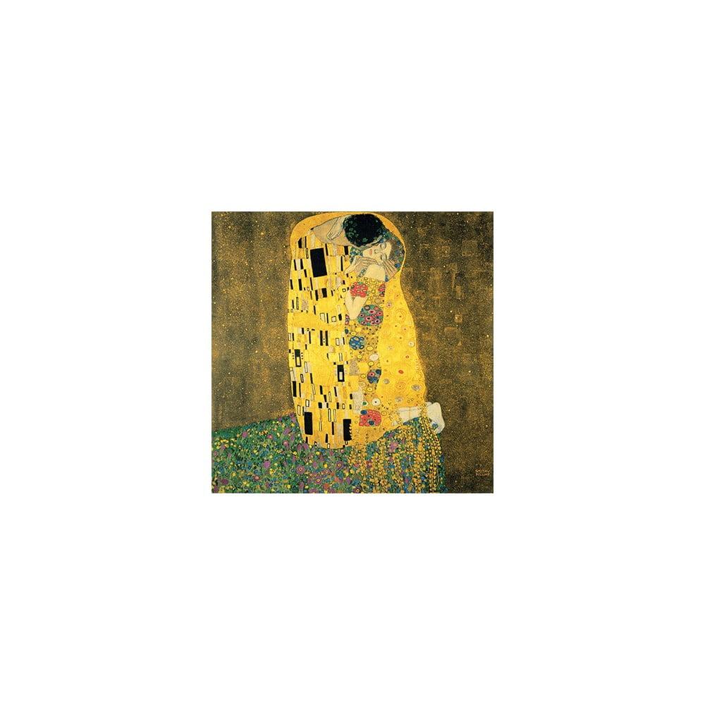Reprodukce obrazu Gustav Klimt - The Kiss, 70 x 70 cm