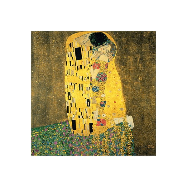 The Kiss másolat, 40 x 40 cm - Gustav Klimt
