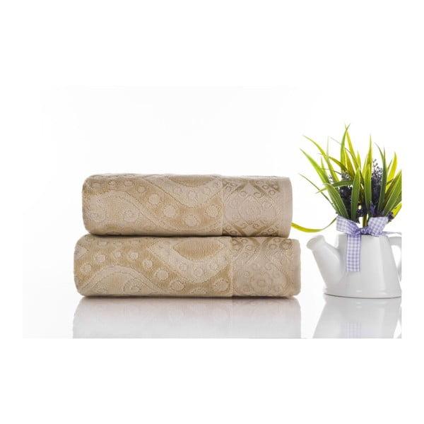 Sada 2ks ručníků Sal Light Brown, 50x90 cm