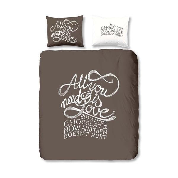 Bavlněné povlečení Muller Textiels Chocolate Love, 240x200cm