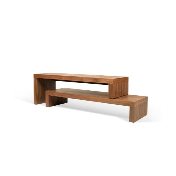 Cliff barna dupla dohányzóasztal, 125 x 20 cm - TemaHome