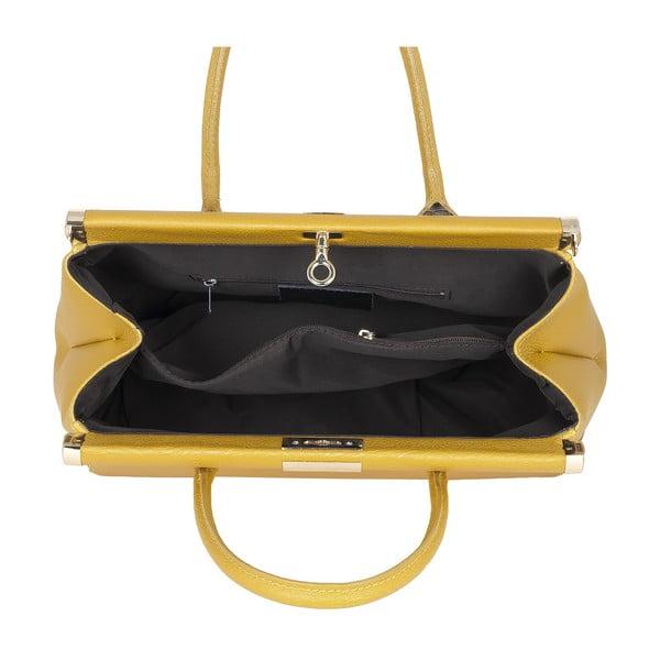 Kožená kabelka Italian Elegance, žlutá
