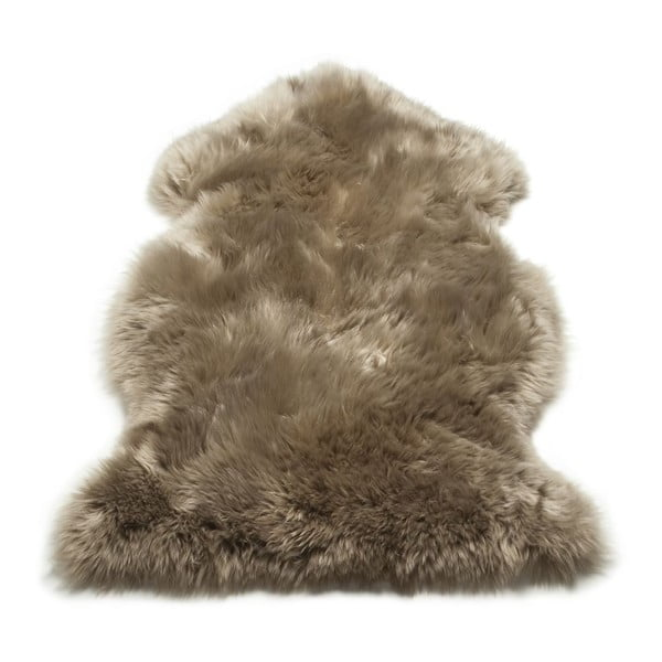 Koberec Single Sheepskin Taupe, 100x100 cm