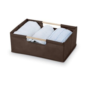 Hnědý úložný box Domopak Saket, délka34cm