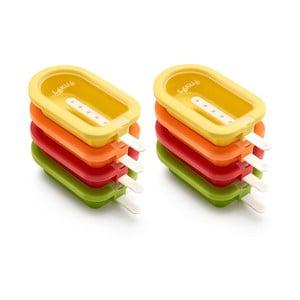 Sada 4 barevných silikonových forem na zmrzlinu Lékué