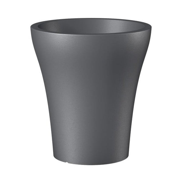 Venkovní květináč Metallic Grey, 43 cm
