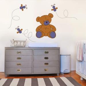 Samolepka na stěnu Medvídek plyšáček, 70x50 cm