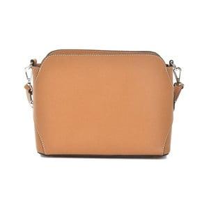Koňakově hnědá kožená kabelka Mangotti Bags Adriana