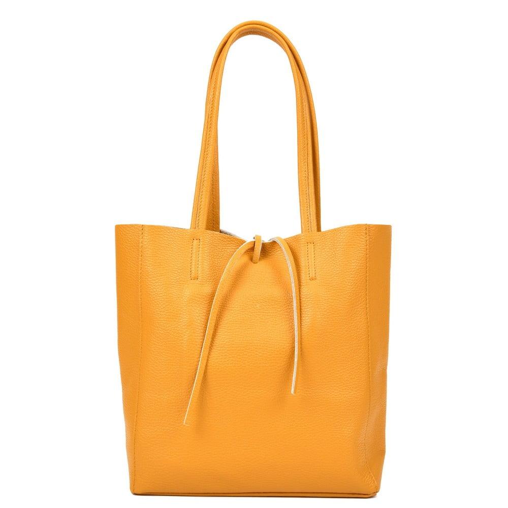 Žlutá kožená kabelka Sofia Cardoni Simply