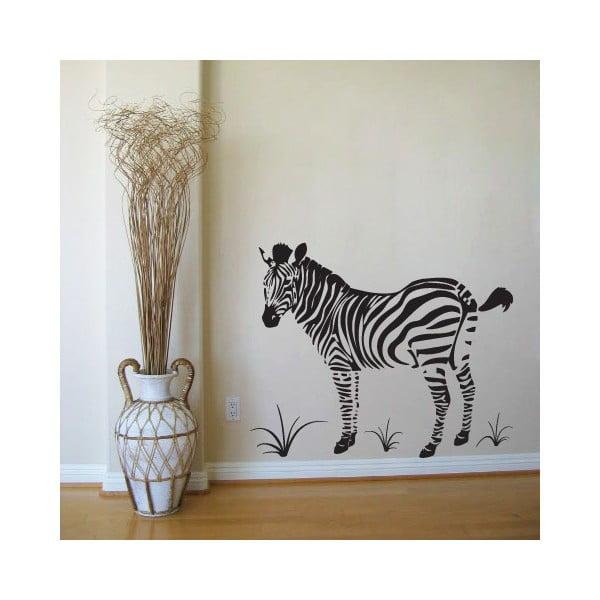 Samolepka Zebra s průhledným pozadí, 90x76 cm