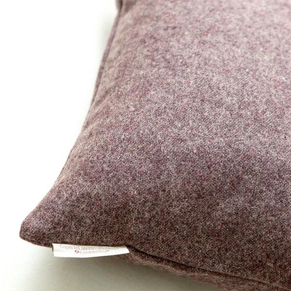 Vlněný polštář Tweed 40x40 cm, fialový