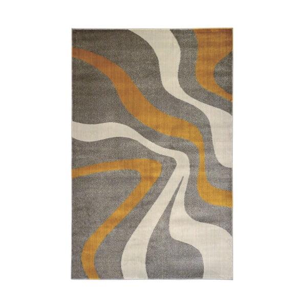 Swirl Yellow szürke szőnyeg, 80 x 150 cm - Webtappeti