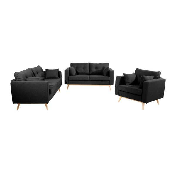 Canapea cu 3 locuri Max Winzer Tomme, negru