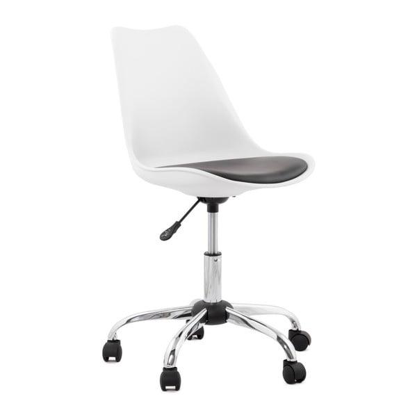 Biało-czarny fotel biurowy Kokoon Edea