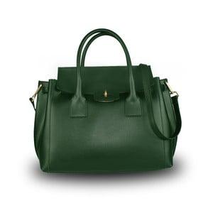 Zelená kabelka z pravé kůže JOHN FISH Suv