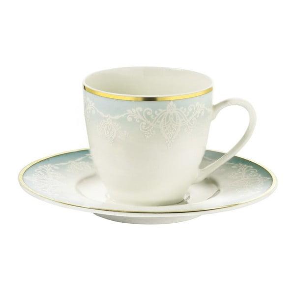 Zestaw 6 filiżanek porcelanowych ze spodkami Kutahya Africa, 50 ml