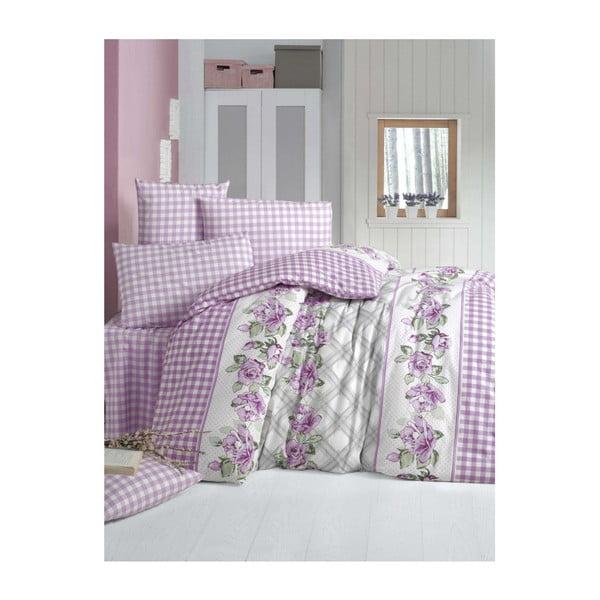 Lenjerie de pat din bumbac cu cearșaf și fețe de pernă Rosalie, 200 x 220 cm