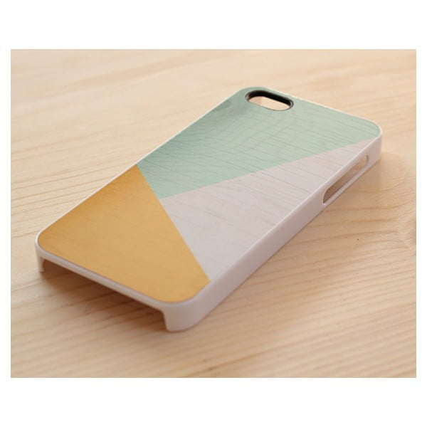Obal na Samsung Galaxy S4, Sunny Yellow & Mint geometric wood/white