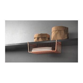 Suport de agățat pe rafturi Metaltex, arămiu de la Metaltex