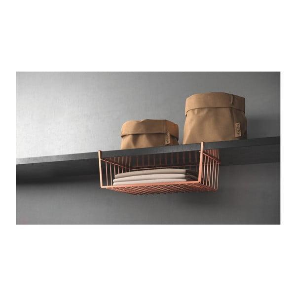 Suport de agățat pe rafturi Metaltex, arămiu