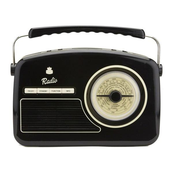 Czarne radio GPO Rydell Nostalgic Dab Radio Black