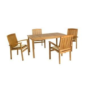 Zahradní stůl a 4 židle Murcia Natural