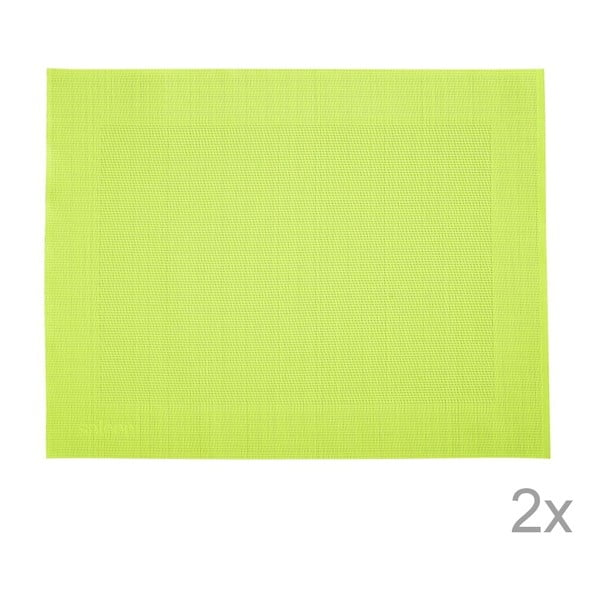 Sada 2 prostírání Saleen Green, 30x40 cm