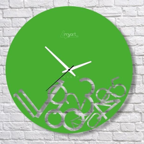 Nástěnné hodiny Green Confusion