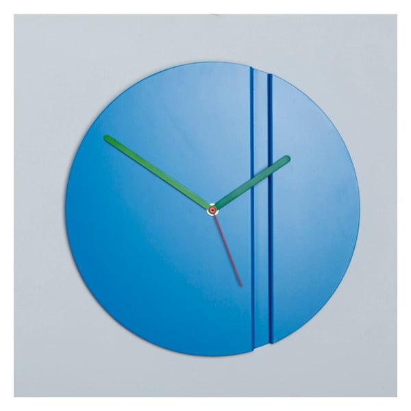Nástěnné hodiny Pleat Fold, modré