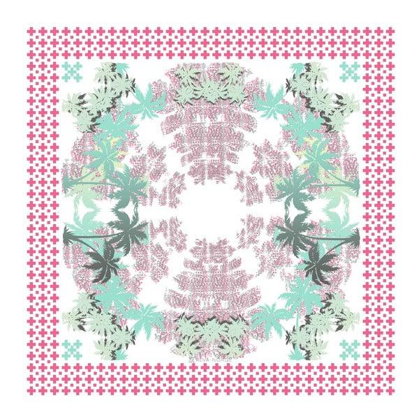 Hedvábný šátek Pammy Pink, 130x130 cm