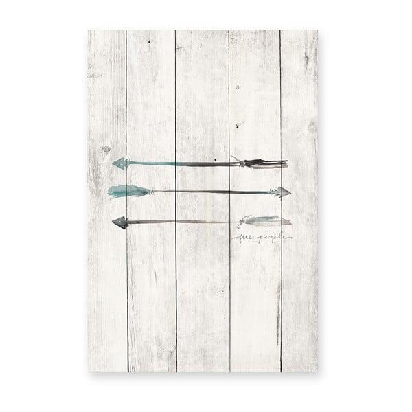 Dřevěná cedule Really Nice Things Free People, 40x60cm