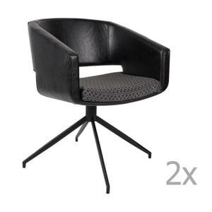 Sada 2 černých židlí Zuiver Beau