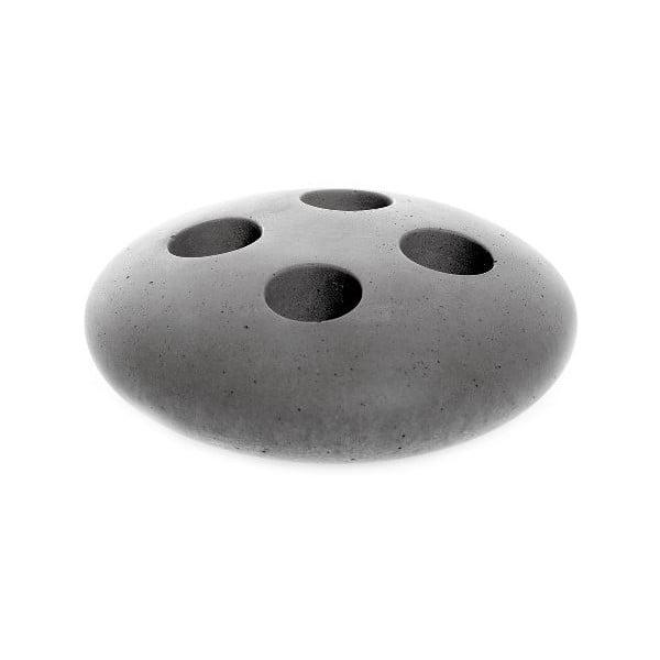 Šedý betonový stojan na kartáčky Iris Hantverk