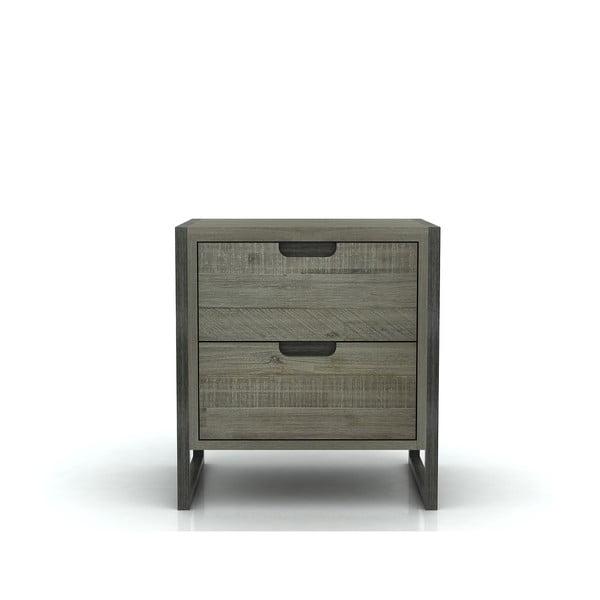 Nočný stolík s 2 zásuvkami z akáciového dreva Livin Hill Flow