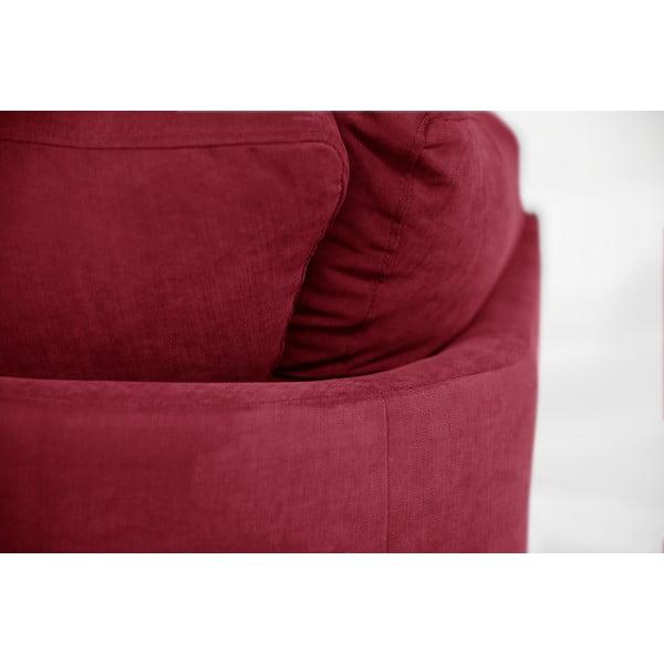 Rohová pohovka Jalouse Maison Irina, levý roh, červená