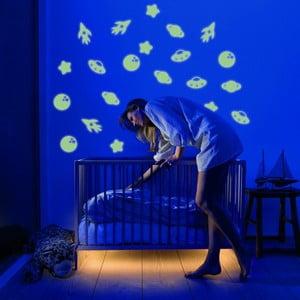 Svítící samolepka Kosmo, 60x30 cm