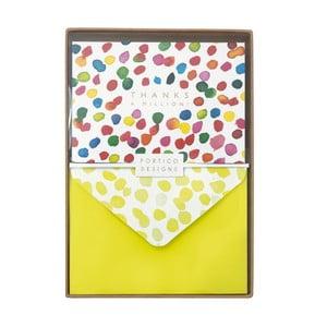 Sada 10 komplimentek s obálkami Portico Designs Inky Dots