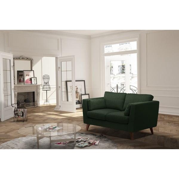 Tmavě zelená dvoumístná pohovka Jalouse Maison Elisa