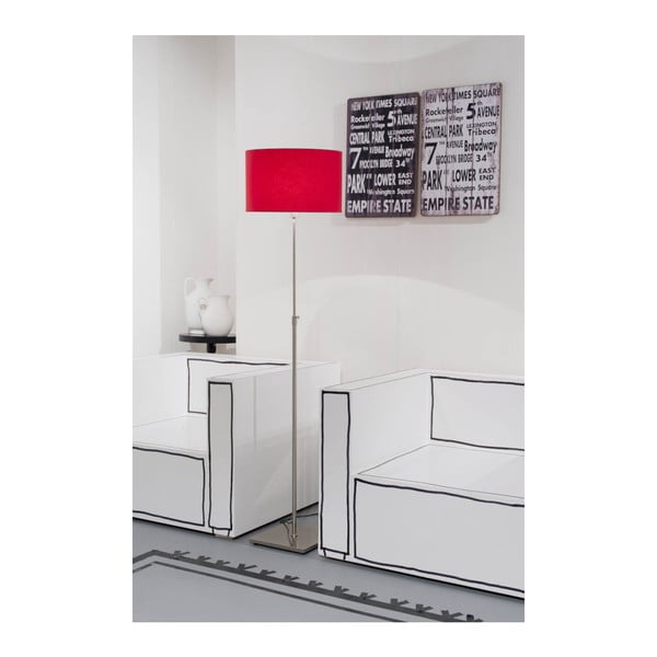 Šedá volně stojící lampa s bílým stínidlem Citylights Bonn